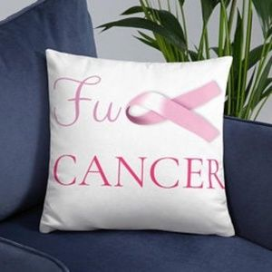 F**k cancer Throw-Pillow